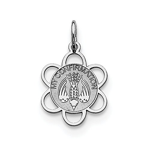 Sterling Silver Solid Polished Engravable Laser Etched My Confirmation Disc Charm