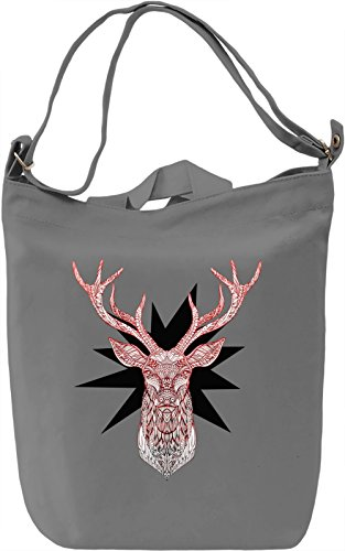 Graphic Deer Borsa Giornaliera Canvas Canvas Day Bag| 100% Premium Cotton Canvas| DTG Printing|