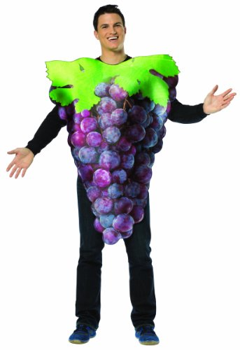 [Rasta Imposta Get Real Purple Grapes, Purple, Standard] (Food Halloween Costumes For Adults)