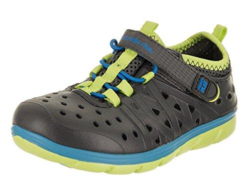 Stride Rite Made 2 Play Phibian Sneaker Sandal Water Shoe (Toddler/Little Kid/Big Kid), Grey,9 M US Toddler