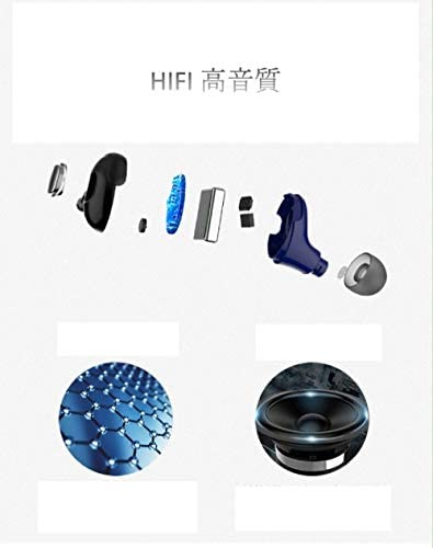 Cetengkeji 「HIFI高音質イヤホン」DSPノイズキャンセリング技術、自動ペアリング、片耳24時間再生、スポーツに適用、45分、5時間音楽鑑賞、5時間高音質通話、驚きの片耳重量6g (Color : Gray)