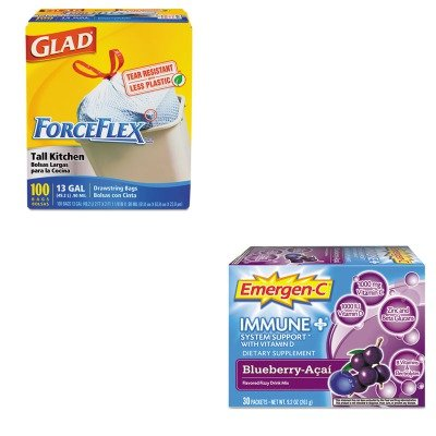 KITALA100007COX70427 - Value Kit - Emergen-C Immune Formula (ALA100007) and Glad ForceFlex Tall-Kitchen Drawstring Bags (COX70427)