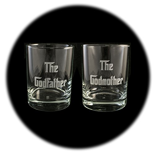 (Designer Rocks Glass (Qty 2) - The Godfather and The)