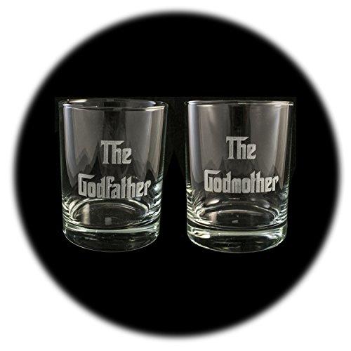 Godmother Rocks - Designer Rocks Glass (Qty 2) - The Godfather and The Godmother