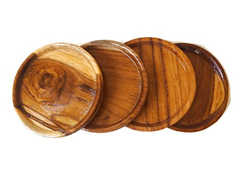 Circle Wooden Coasters ( 4 Pcs./Pack)