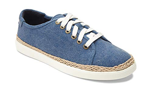 (Vionic Women's Sunny Hattie Lace-up Sneaker - Ladies Sneakers Concealed Orthotic Arch Support Navy 8 M US)