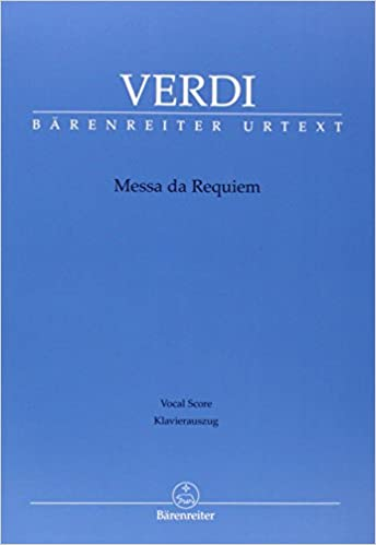 Messa da Requiem (critical ed.): Vocal score