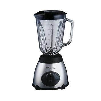 Batidora de vaso eléctrica inoxidable con Jarra de cristal para frutas y verduras y función de