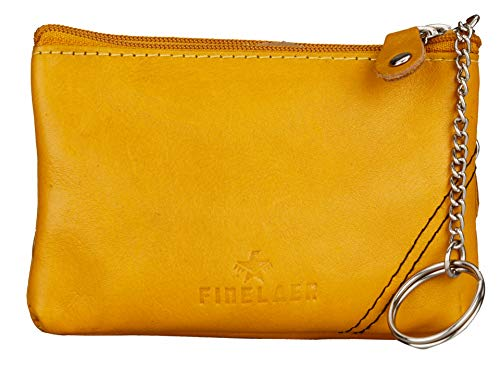 Finelaer Women Leather Coin Purse Pouch Wallet with Key Ring