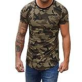 Men's Camouflage T-Shirt, NDGDA Compression Crossfit Men Fitness Elastic Shirt