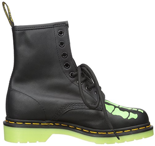 Dr.Martens Skelly Print Softy T Black Green Womens Boots Size 4 UK