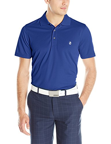 Performance Mens Golf Polo (IZOD Men's Performance Golf Grid Polo, Cobalt Blue, Large)