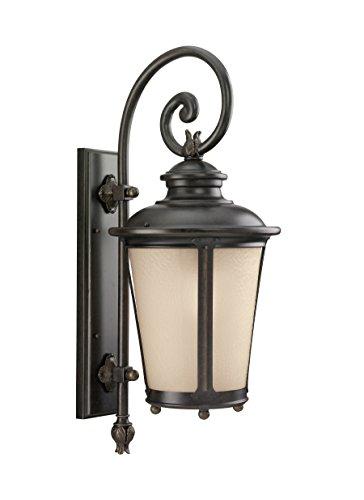 Sea Gull Lighting 8824291S-780 Cape May Large LED Outdoor Wall Lantern, Burled Iron