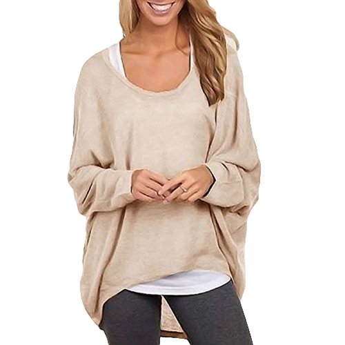 ZAWARA Women's Sexy Long Batwing Sleeve Loose Pullover Casual Top Blouse T-Shirt
