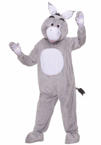 Forum Novelties Men's Plush Donkey Mascot Costume, Multi, Standard