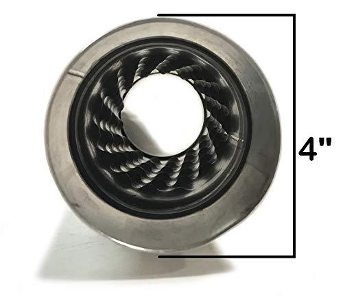 Pair of 2.5 straight Universal Glass Pack Resonator Muffler Stainless Steel