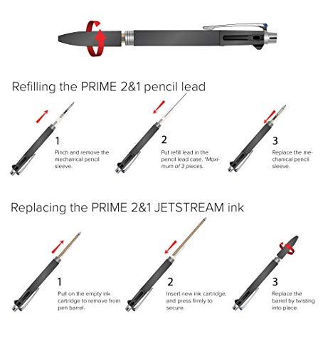uni JETSTREAM PRIME 2&1 - Red and Black 0.7mm ink + 0.5mm Pencil with Exclusive uni Box by uni (Image #8)