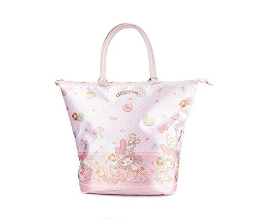 Sanrio Licensed My Melody Japanese Edition Pearl Satin Collection Tote Handbag