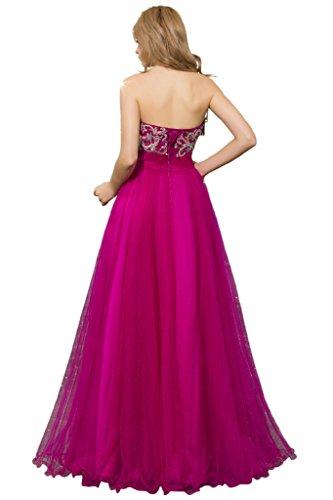Promgirl House Damen Reizvoll A-Linie Herz-Ausschnitt Schnueren Ballkleider Lang Abendkleider Partykleider 2015