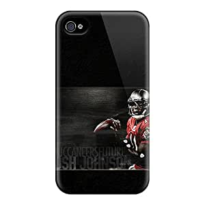 Shock Absorption Hard Phone Case For Iphone 4/4s With Provide Private Custom Attractive Tampa Bay Buccaneers Skin Marycase88