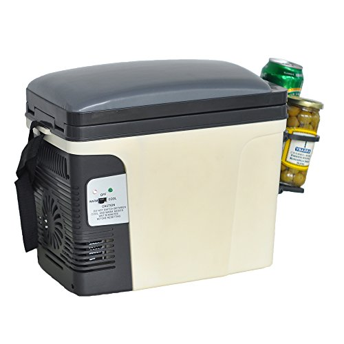 Generic Compact Portable Vehicle Refrigerator Beverage Car Cooler Food Warmer 110V/12V Thermoelectric Truck Fridge,6L by SMETA (Image #9)