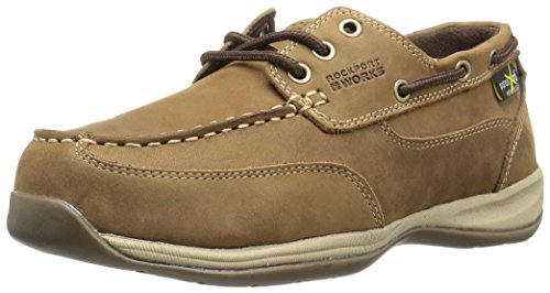 Rockport Work Men's Sailing Club RK6734 Industrial and Construction Shoe, Brown, 9.5 M US