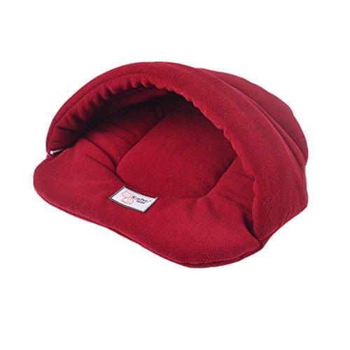 Haustier Tasche Matte Zwinger Decke Kissen Hund Katze Bett Nest Haus Schlafen - Rot , L