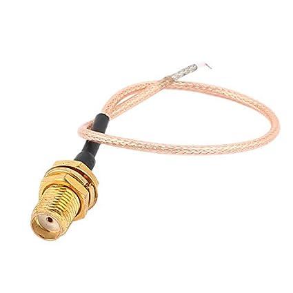 DealMux SMA Feminino Jack Coax Connector WiFi Antena RG178 Pigtail Cable 15 centímetros