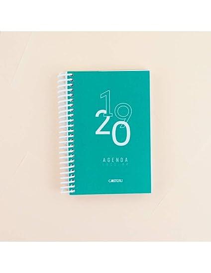 Casterli - Agenda Escolar 2019-2020 Basic Edition - Día Página, Tamaño A6 (Verde)