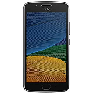 Motorola Moto G5+ Plus 32GB (5th Generation) XT1680 - 5.2in Full HD, Snapdragon 625, Single SIM GSM Factory Unlocked - International Version - No Warranty (Lunar Gray) (Renewed)