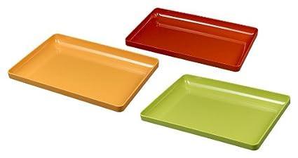 Silea 222/6918 - Lote de 3 bandejas (melamina), diferentes colores