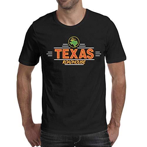GESISAHU T-Shirt Mens Short Sleeve Solid Shirt Texas Roadhouse Logos Leisure Tee Soft PlainDesign T Shirt (Roadhouse Shirt Texas)