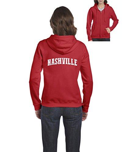 - NIB Nashville Tennessee State Flag Traveler's Gift Women Full-Zip Hooded Sweatshirt