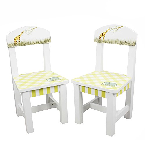 Fantasy Fields - Alphabet Thematic Kids Wooden 2 Chairs Set  Imagination Inspiring Hand Crafted & Hand Painted Details   Non-Toxic, Lead Free Water-based (Mdf Painted Chair)