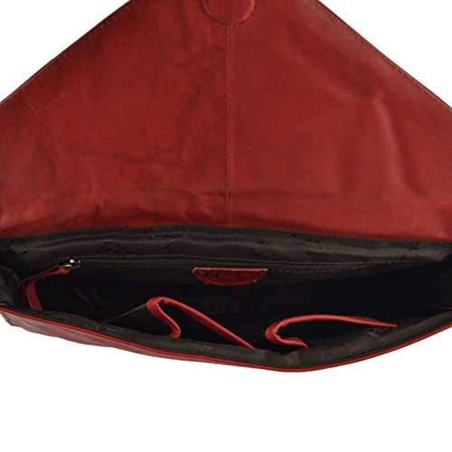 Stylish CLUTCH Soft Versitile Red LEATHER by GiGi HANDBAG Envelope Ladies Classic WIUpnRqzU