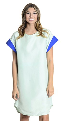 Cynthia Rowley Robe T-shirt Menottées Des Femmes À La Menthe / Bleu, 4