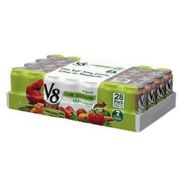 V8 Original Low Sodium Vegetable Juice (11.5 oz. cans, 28 ct.) (pack of 2) ()