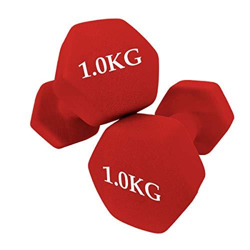 unycos – Set van 2 halters – fitness training – korte halters – anti-slip – hexagonaal | training thuis en in de…