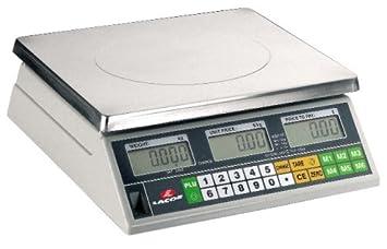 Lacor 61716 - Bascula electrónica con base cuadrada, 15 kg: Amazon.es: Hogar