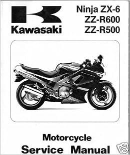 1990-93 KAWASAKI NINJA ZX-6, ZZ-R600, 500 SERVICE MANUAL ...
