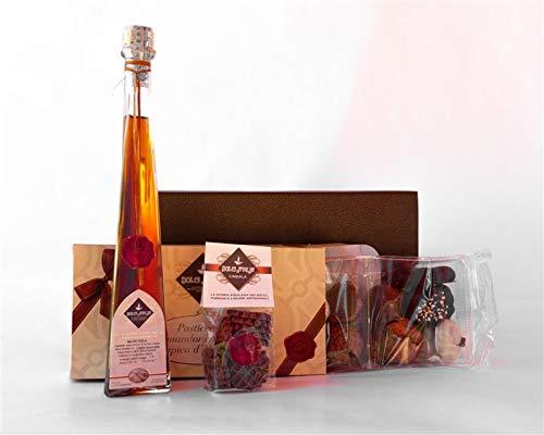 Paquete de Regalo Grandioso - Licor Amaro de Abruzzo 20cl, Pastelería Mixta con Almendras y