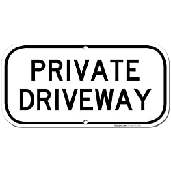 Private Driveway Sign, 6x12 Rust Free Aluminum, UV Printed, Easy to Mount Weather Resistant Long Lasting Ink Made in USA by SIGO SIGNS