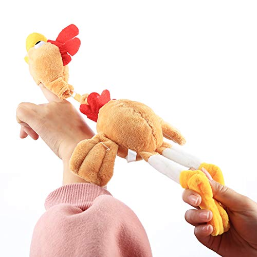 AMZER Slingshot Flingshot Flying Screaming Chicken Plush Toy