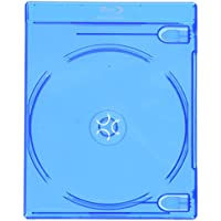 Square Deal Recordings & Supplies (25 Empty Standard Double Replacement Boxes/Cases Blu-Ray Disc Movies BR2 BR2R12BL, Blue