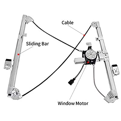Power Window Regulator with Motor Assembly Compatible with Chevy Avalanche Silverado Suburban Tahoe, GMC Yukon Sierra, Cadillac Escalade, Front Left Driver Side.: Automotive