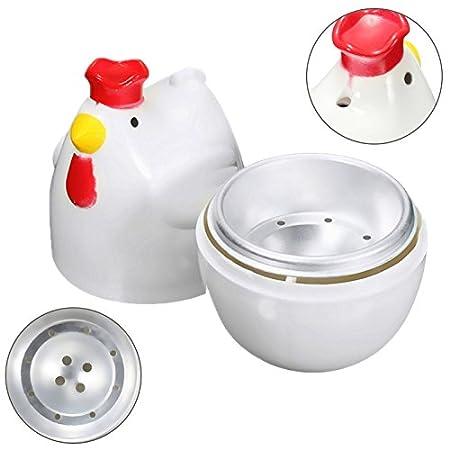 REFURBISHHOUSE 1 Olla de Vapor de Huevos hervidos en Forma de Polluelo microonda mazo de Vapor Cocina de Huevo Herramientas de Cocina Herramientas ...