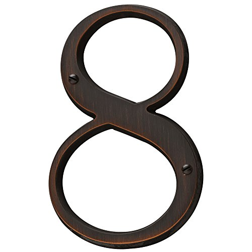 Baldwin Estate 90678.112.CD Solid Brass Traditional House Number Eight in Venetian Bronze, ()