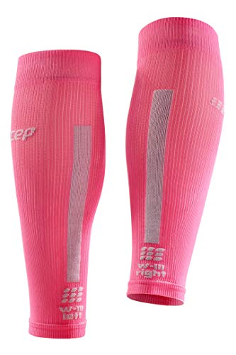 CEP Women's Compression Run Sleeves Calf Sleeves 3.0, Rose/Light Grey II by CEP (Image #3)