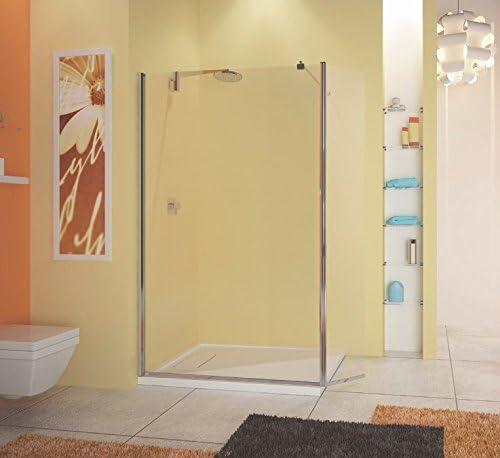 Mampara de ducha fija con contraventana Mobile WEB4 Sax- cristal ...