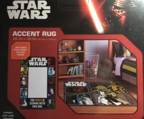 star wars picture frame and accent rug